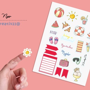 Nyár, Otthon & Lakás, Papír írószer, Egyedi szerkesztés, Fotó, grafika, rajz, illusztráció, Végre itt a nyár és napsütés. Díszítsd a naplódat vagy a terveződ ezekkel a gyönyörű színekkel.\nTerm..., Meska