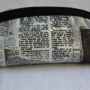 Tolltartó, szemüvegtartó - vezércikk, Táska & Tok, Neszesszer, Varrás, Minőségi újságcikk mintás pamutvászon anyagból készült ez a tolltartó, szemüvegtartó. Vatelin bélés ..., Meska