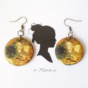 Fa medálosGustav Klimt A csók fülbevaló  (klarion) - Meska.hu