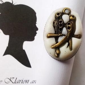 A madárpár gyűrű (klarion) - Meska.hu