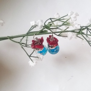 !!!AKCIÓ!!! Korall és türkiz fülbeval? (klarion) - Meska.hu