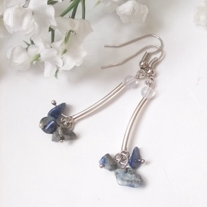 Lapis lazuli fülbevaló (klarion) - Meska.hu