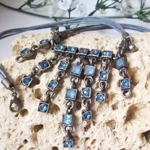 !!!AKCIÓ!!! Egyedi kék nyaklánc (klarion) - Meska.hu