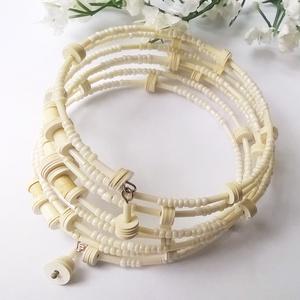 !!!AKCIÓ!!! Elefántcsont fehér memória karkötő (klarion) - Meska.hu