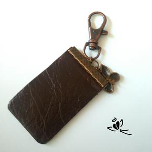 Capuccino bőr kulcstartó (klarion) - Meska.hu
