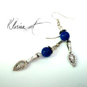 Lapis lazuli ásvány fülbevaló  (klarion) - Meska.hu