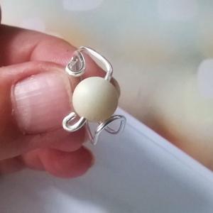 Amazonit ásványgyöngyös gyűrű (klarion) - Meska.hu