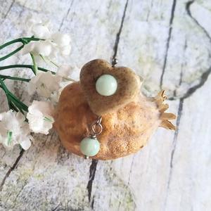 Unakit szív amazonit gyöngyökkel, állítható méretű gyűrű - Meska.hu