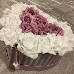 Virágbox szív alakú (Klaudecor) - Meska.hu