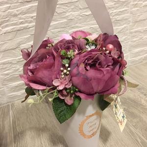 Vázás tölcséres virágbox (Klaudecor) - Meska.hu