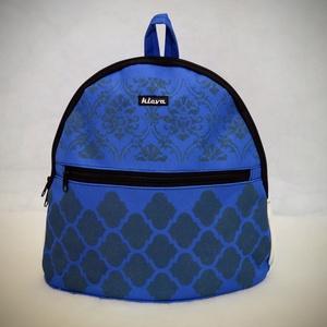 Kék hátizsák 2.0, Táska & Tok, Biciklis & Sporttáska, Sporttáska, Varrás, Egyedi tervezésű és kivitelezésű hátizsák. Kívül -belül víztaszító anyagból. Belül 2 db zseb kapott ..., Meska