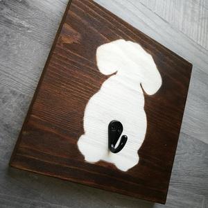Kutya póráz tartó 20x20cm, Otthon & lakás, Dekoráció, Kép, Lakberendezés, Állatfelszerelések, Kutyafelszerelés, Falikép, Famegmunkálás, Fotó, grafika, rajz, illusztráció, Fenyőből készült dekorációs kép,akril festékkel fújva. \nA termékből jelenleg 1 db van készleten.\nKér..., Meska