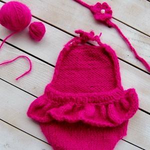 Pink body szett (2 részes), Gyerek & játék, Táska, Divat & Szépség, Gyerekruha, Ruha, divat, Baba (0-1év), Kötés, Pink fodros body és fejpánt. (0-2hó)\n\nTermékeim mindegyike kézzel készült és  mindegyikbe igyekszem ..., Meska