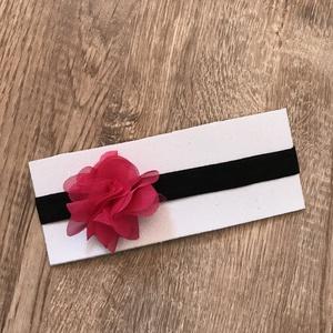 Fekete-pink hajpánt 1 db, Gyerek & játék, Táska, Divat & Szépség, Hajbavaló, Ruha, divat, Hajpánt, Kötés, Kézzel készített fejpánt fotózásra, ajándéknak vagy csak azért, hogy csini legyen a babád.\n36-44mére..., Meska