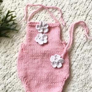 Újszülött rózsaszín babaszett, Babafotózási ruha és kellék, Babaruha & Gyerekruha, Ruha & Divat, Kötés, Rózsaszín   2 részes, babaszett fotózáshoz. \n0-2 hónapos korig, Meska
