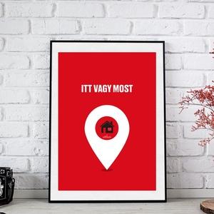 Otthon ,lakásavató,házavató,ajándék,falikép,dekor, Kép & Falikép, Dekoráció, Otthon & Lakás, Fotó, grafika, rajz, illusztráció, Az otthon melege, a megérkezés pillanata ihlette poszter.\n\nAz ár 1 db képre vonatkozik, a keretet NE..., Meska