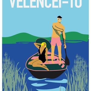 Velencei-tó,retro hangulatú falikép,dekor,ajándék, Művészet, Grafika & Illusztráció, Fotó, grafika, rajz, illusztráció, Retro hangulatú, Velencei-tó poszter.\nAz ár 1 db képre vonatkozik.\n\nA4-es mérettől. , Meska