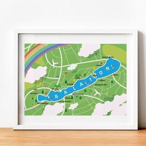 Balaton , Otthon & lakás, Dekoráció, Kép, Fotó, grafika, rajz, illusztráció, Egyedi,saját grafika. KERET nélkül. Kedvenc kis tavam után, jöjjön a Balaton. A4-es és A3-as méretbe..., Meska