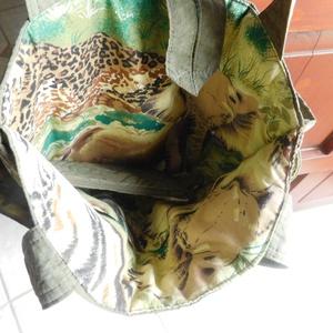 Állatmintás, egyedi női táska,  pénztartóval  (kockarongy60) - Meska.hu
