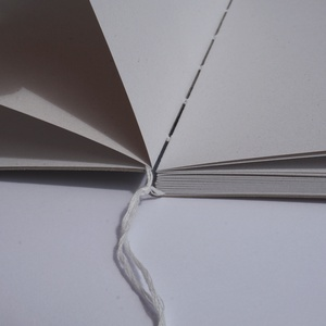 Natúr notesz, nyitott gerinccel - otthon & lakás - papír írószer - jegyzetfüzet & napló - Meska.hu