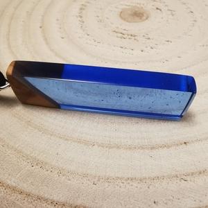 Kék szögletes - ékszer - nyaklánc - medálos nyaklánc - Meska.hu