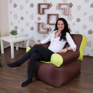 Elegáns, különleges, egyedi tervezésű babzsákfotel felnőtteknek, kültéri és beltéri babzsák fotel, Otthon & lakás, Bútor, Babzsák, Szék, fotel, Lakberendezés, Varrás, Elegáns, különleges, egyedi tervezésű, klasszikus fotel alakú, háttámlás, kültéren és beltéren egya..., Meska