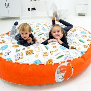 Óriás babzsákfotel gyerekeknek, Gyerek & játék, Bútor, Otthon & lakás, Babzsák, Varrás, Óriás babzsákfotel gyerekeknek, 2-12 éves korig.\n\nKülső huzata levehető, mosható.\n\nTöltőanyaga hunga..., Meska