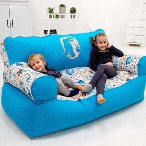 Formatervezett, háttámlás kanapé - GYEREK MÉRET, Gyerek & játék, Gyerekszoba, Bútor, Otthon & lakás, Babzsák, Varrás, Formatervezett, háttámlás babzsák kanapé gyerekeknek.\n\nKialakításának köszönhetően a bútor egyszerre..., Meska