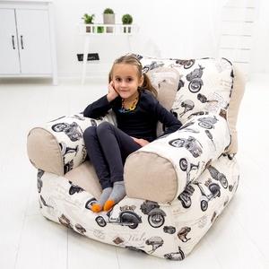 Gyermek és tini babzsák fotel, Babzsákfotel, Bútor, Otthon & Lakás, Varrás, Saját tervezésű, háttámlás, nagyon kényelmes és formatartó babzsákfotel 3-12 éves korig.\n\nKülső huza..., Meska