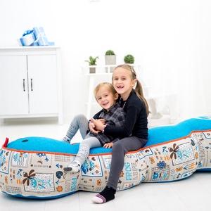 Kukac-Babzsák ülőke gyerekeknek - 3 részes, saját tervezésű babzsák bútor, Gyerek & játék, Gyerekszoba, Bútor, Otthon & lakás, Babzsák, Varrás, Kukac - mókás, egyedi tervezésű babzsák ülőke gyerekeknek. 3 részes, fej, farok+1 köztes rész.\n\nDupl..., Meska