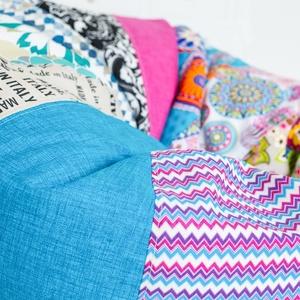 Design patchwork babzsákfotel felnőtteknek és tiniknek, patchwork babzsák (kolyokdzsungel) - Meska.hu