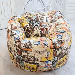 Design babzsák fotel felnőtteknek és tiniknek, motoros babzsákfotel felnőtteknek, óriás dizájn babzsák, Bútor, Otthon & lakás, Babzsák, Lakberendezés, Varrás, Egyedi tervezésű, design babzsák fotel felnőtteknek, motoros mintával.\n\nA fotel erős, strapabíró any..., Meska