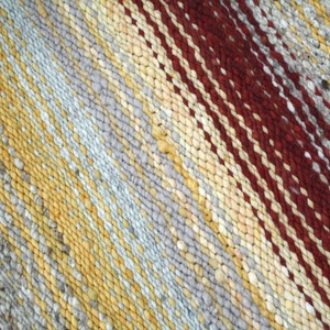 Bíbor alkonyat - Nagyon vastag, meleg és puha ványolt gyapjú szőnyeg  (komodorka) - Meska.hu