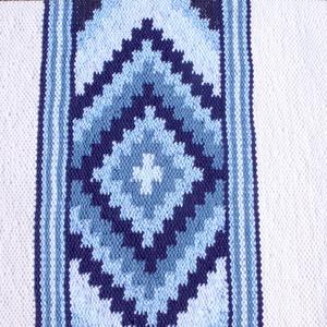 Kék Csillag - pamut szőttes, jógaszőnyeg (komodorka) - Meska.hu