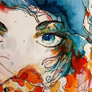 Eufória akvarell festmény (Eredeti) (konradoart67) - Meska.hu