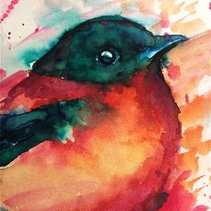 Színkavalkád akvarell festmény (Eredeti) (konradoart67) - Meska.hu