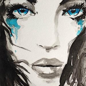 Pillanat akvarell festmény (Eredeti) (konradoart67) - Meska.hu
