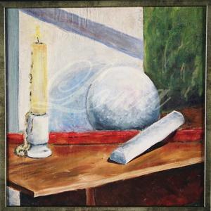 festmény- gyertyaláng, Olajfestmény, Festmény, Művészet, Festészet, Ez a kép a formákról és a fehér megfestéséről szól.  20 éve festettem tanulmányaim alatt. Pár éve le..., Meska