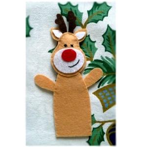 Karácsonyi ujjbáb készlet  ~ 3 db (mézi, réni, hóember) - Meska.hu