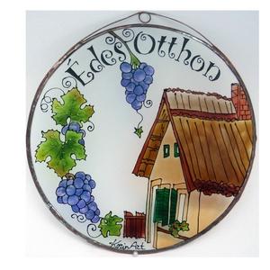 Isten hozott borkedvelőknek - Üvegkép, Otthon & Lakás, Dekoráció, Kép & Falikép, Festett tárgyak, Üvegművészet, Meska