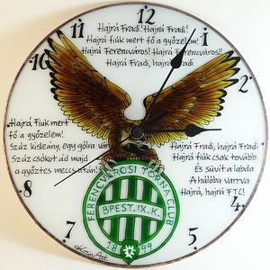 Fradis falióra - üvegre festett óra, Otthon & Lakás, Dekoráció, Falióra & óra, Üvegművészet, Festett tárgyak, Meska