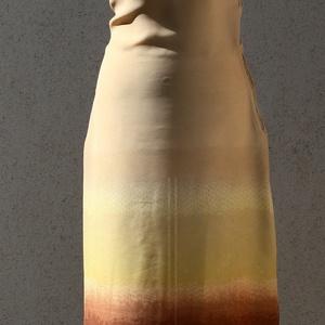 Drapp - barna színátmenetes ruha flitteres nyakrésszel, Ruha & Divat, Női ruha, Ruha, Varrás, Ujjatlan hosszú drapp-barna színátmenetes ruha, a bal oldalán térdig fel van sliccelve. A széles, ba..., Meska