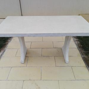 Kerti asztal, Otthon & lakás, Bútor, Asztal, Kőfaragás, Mindenmás, Üvegszál erősítèses műkőasztal ,90x160x80cm.\nTöbb színben kérhető.Saját készitésű, polimer beton, cs..., Meska