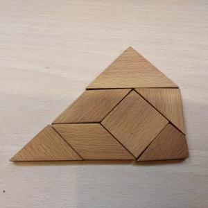 Tangram / kirakós játék fából (Korvin) - Meska.hu