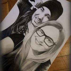 Grafit portré készítés, Portré, Portré & Karikatúra, Művészet, Fotó, grafika, rajz, illusztráció, A portrét előre egyeztetett (e-mailben elküldött) kép alapján készítem el grafit ceruzával. Két mére..., Meska