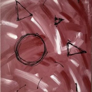 Pálcikamacska, Képzőművészet, Festmény, Akril, Festészet, Egy 35x50 cm-es akril, absztrakt festmény.   Az egész több mint a részek összessége. Egy-egy alakza..., Meska
