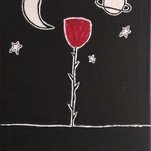 A kis herceg rózsaja, Otthon & lakás, Képzőművészet, Festmény, Akril, Festészet, Feszített vászonra készült akril festmény. Méret: 30*40 cm. , Meska
