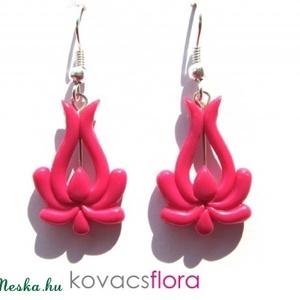 Matyó tulipán fülbevaló (gymatyó06) pink (kovacsflora) - Meska.hu