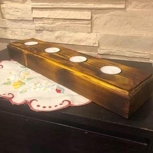 Asztali rusztikus mécses tartó, DIY (Csináld magad), Famegmunkálás, Eladó rendelhető , rusztikus mécses tartó  \n\nEgy ötlet alapján valósult meg eme termék, akár asztald..., Meska