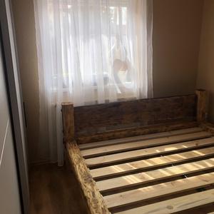 Herodes rusztikus gerenda ágy., Otthon & Lakás, Bútor, Ágy, Famegmunkálás, Fémmegmunkálás, E fajta rusztikus gerenda ágy , egy neten terjedő lakberendező oldalon láttam először és beleszerett..., Meska
